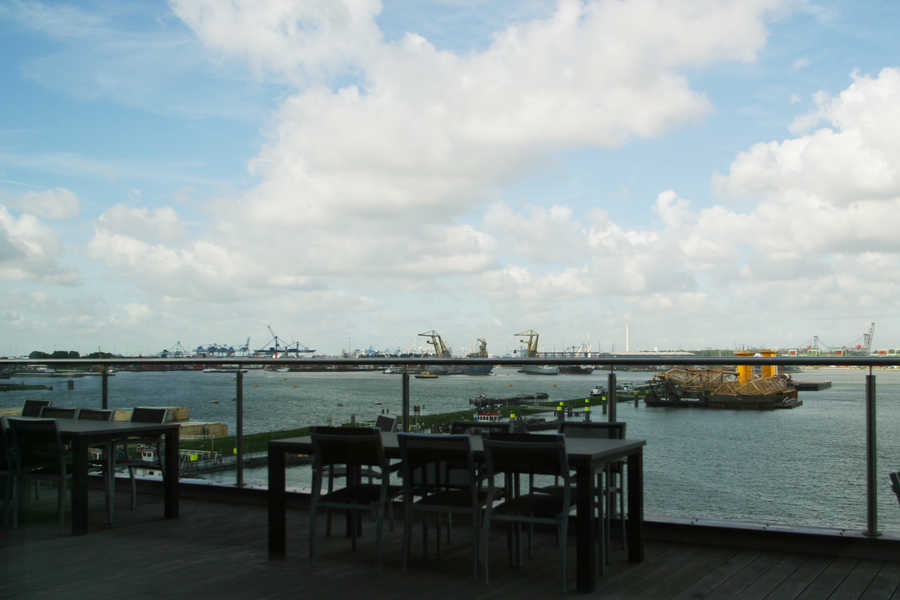 Dockworks view from terrace