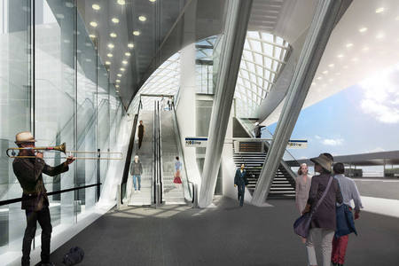 Construction started for HSE – station, The Hague Central
