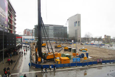 Start construction underground parking garage Jaarbeursplein