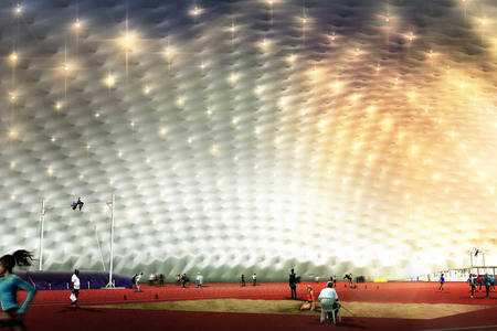 Paper: The Shaded Dome: A smart, cool & adaptable facility for sport venues