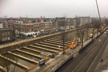 Draining cofferdam Albert Cuypgarage (Boerenwetering)