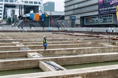 Millions of litres of concrete for parking garage Jaarbeursplein