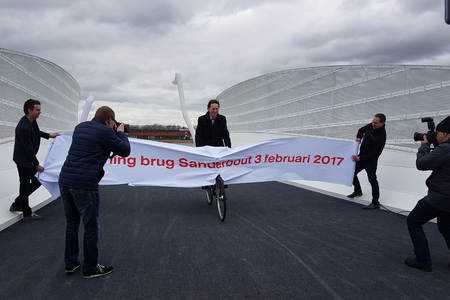 Inauguration bicycle and pedestrian bridge Sittard-Geleen