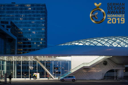 Lightrailstation The Hague nominated for a German Design Award 2019