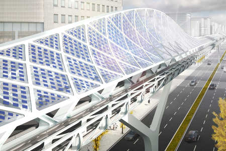 ZJA presents concept design large span lightrail bridges South Korea